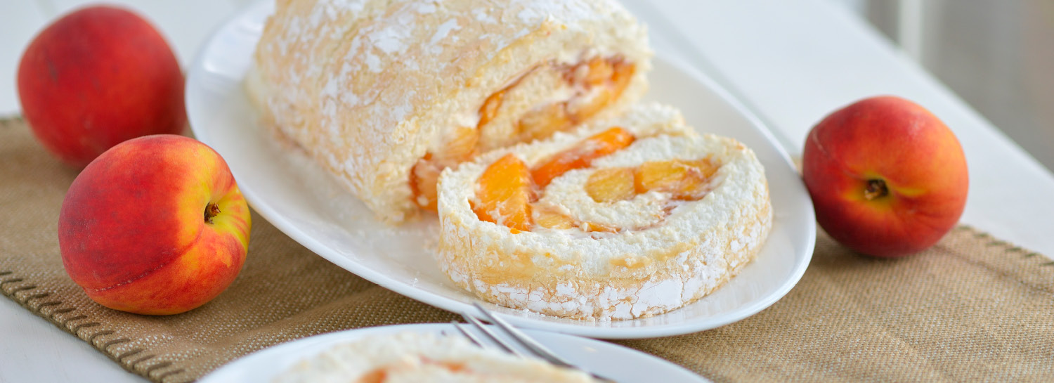 Peach Angel Food Roll